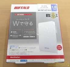 ポータブルHDD 1TB HD-PGF1.0U3-WHA|BUFFALO