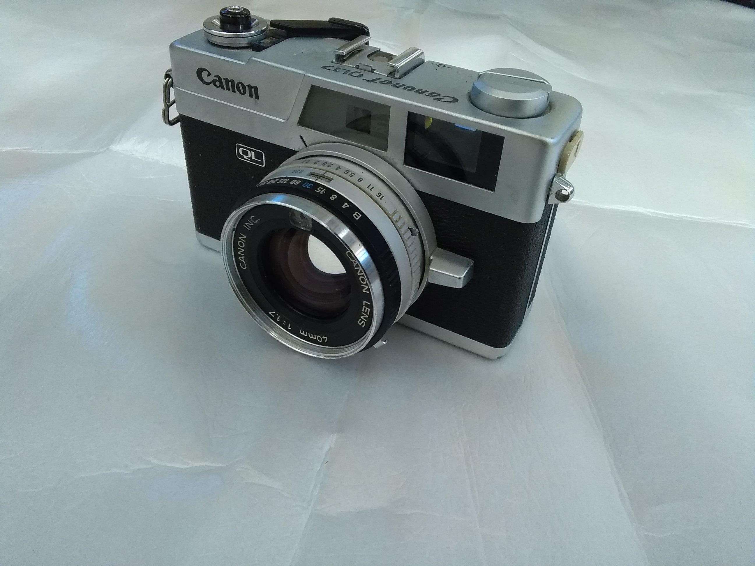 【ジャンク】レンズシャッター式カメラ|CANON