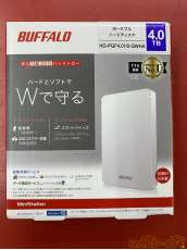 外付けHDD 4TB HD-PGF4.0US-GWHA|BUFFALO