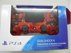レッドカモフラージュ PS4コントローラー|SONY