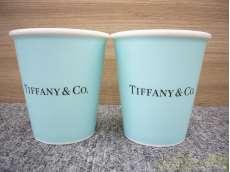 ボーンチャイナ ペーパー カップ ペア TIFFANY&CO.