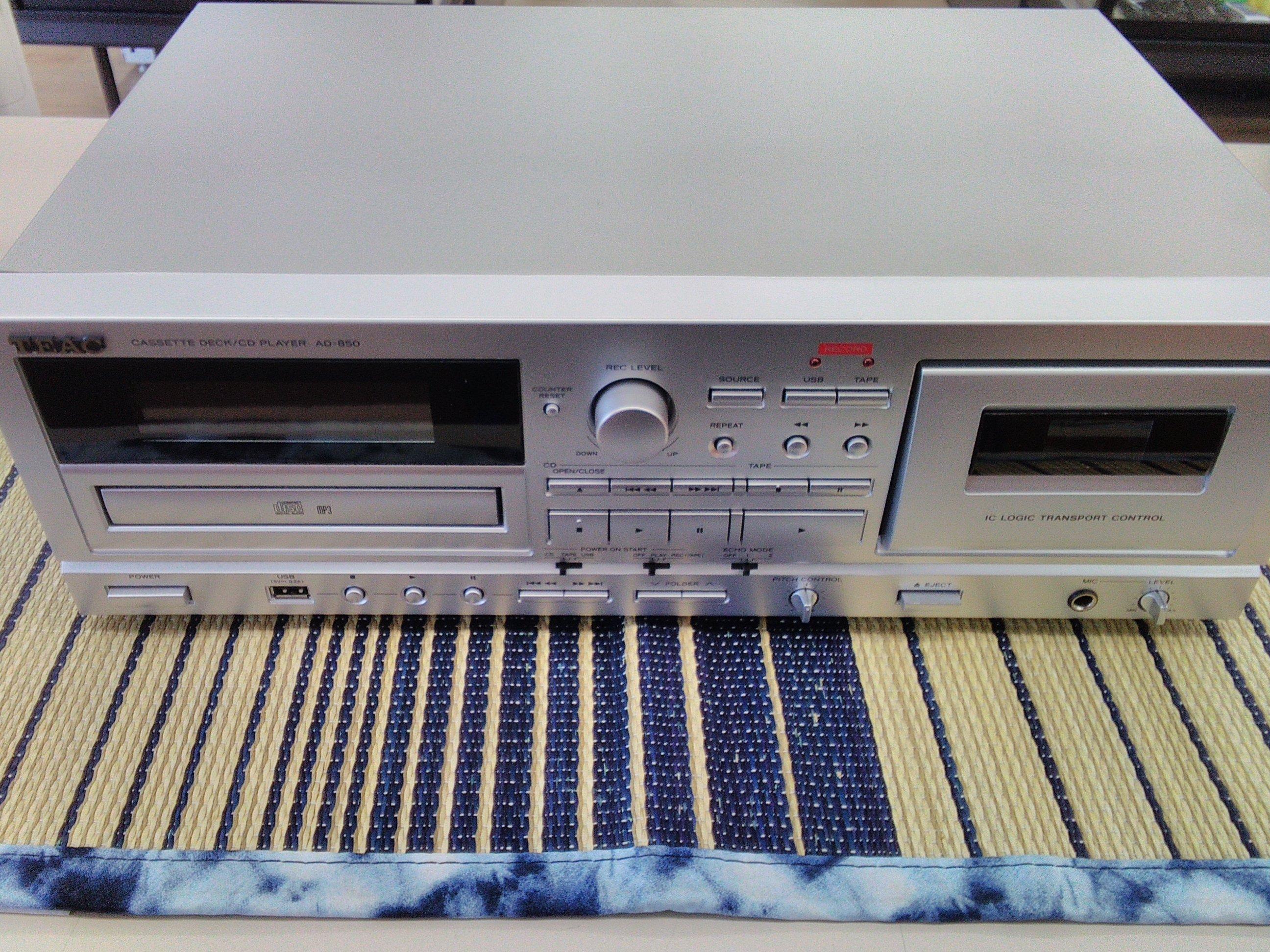 カセット/CDプレーヤー TEAC