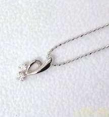 【まとめ買いがお得】K10WGネックレス|宝石付きネックレス
