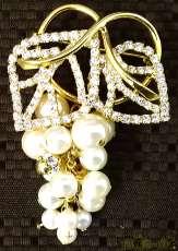 ブローチ|宝石付きペンダントトップ