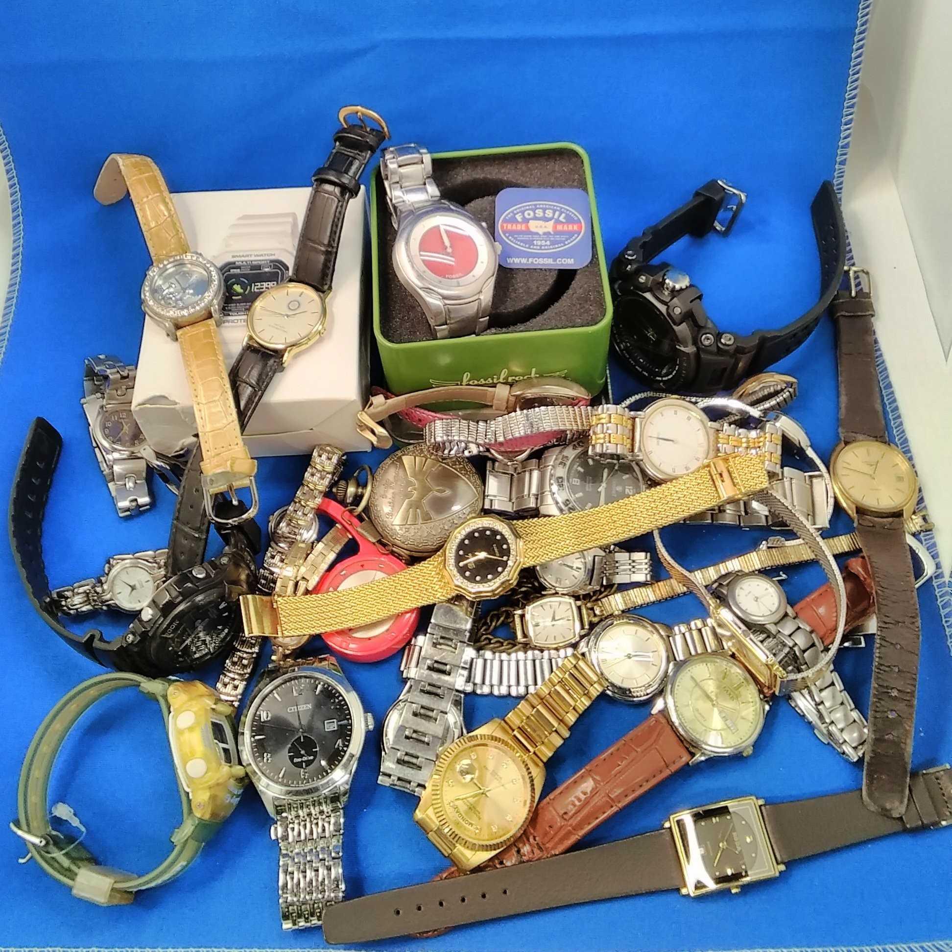 セイコー、シチズン、カシオなど腕時計・懐中時計(ジャンク品含む) SEIKO CITIZEN CASIOなど30点程度