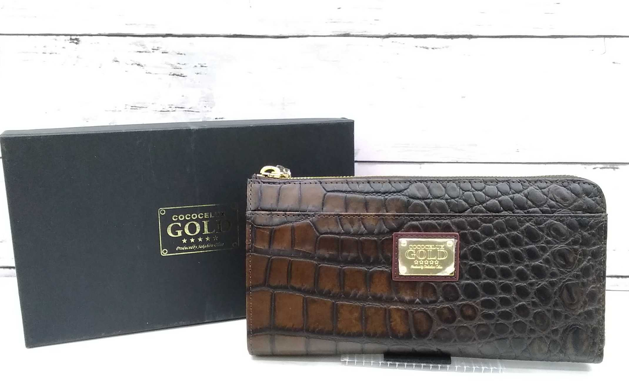 ラウンド財布|GOLD