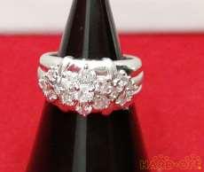 PT850 ダイヤ付きリング|宝石付きリング