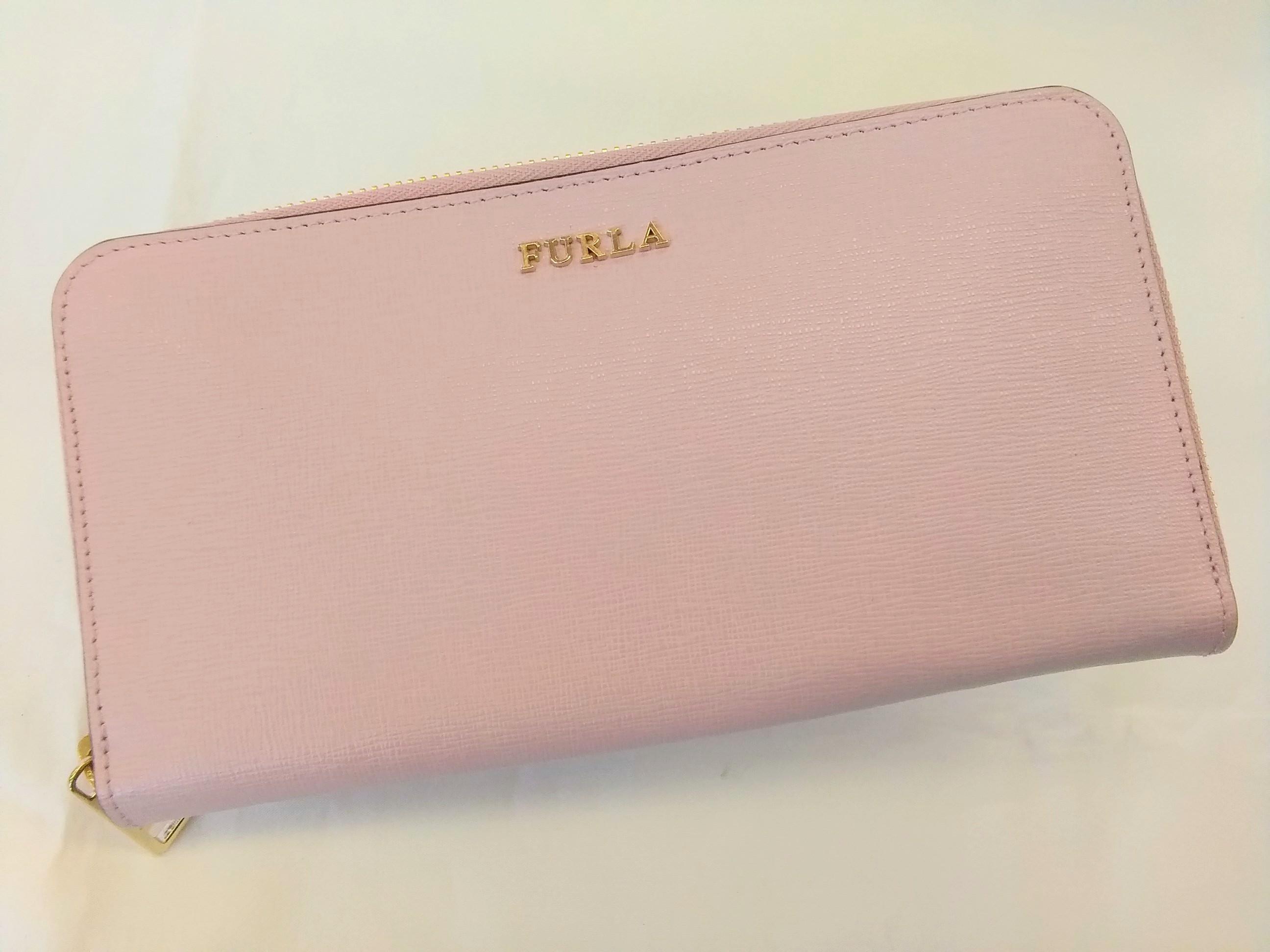 ラウンドジップ財布【ピンク】|FULRA【フルラ】【箱なし】