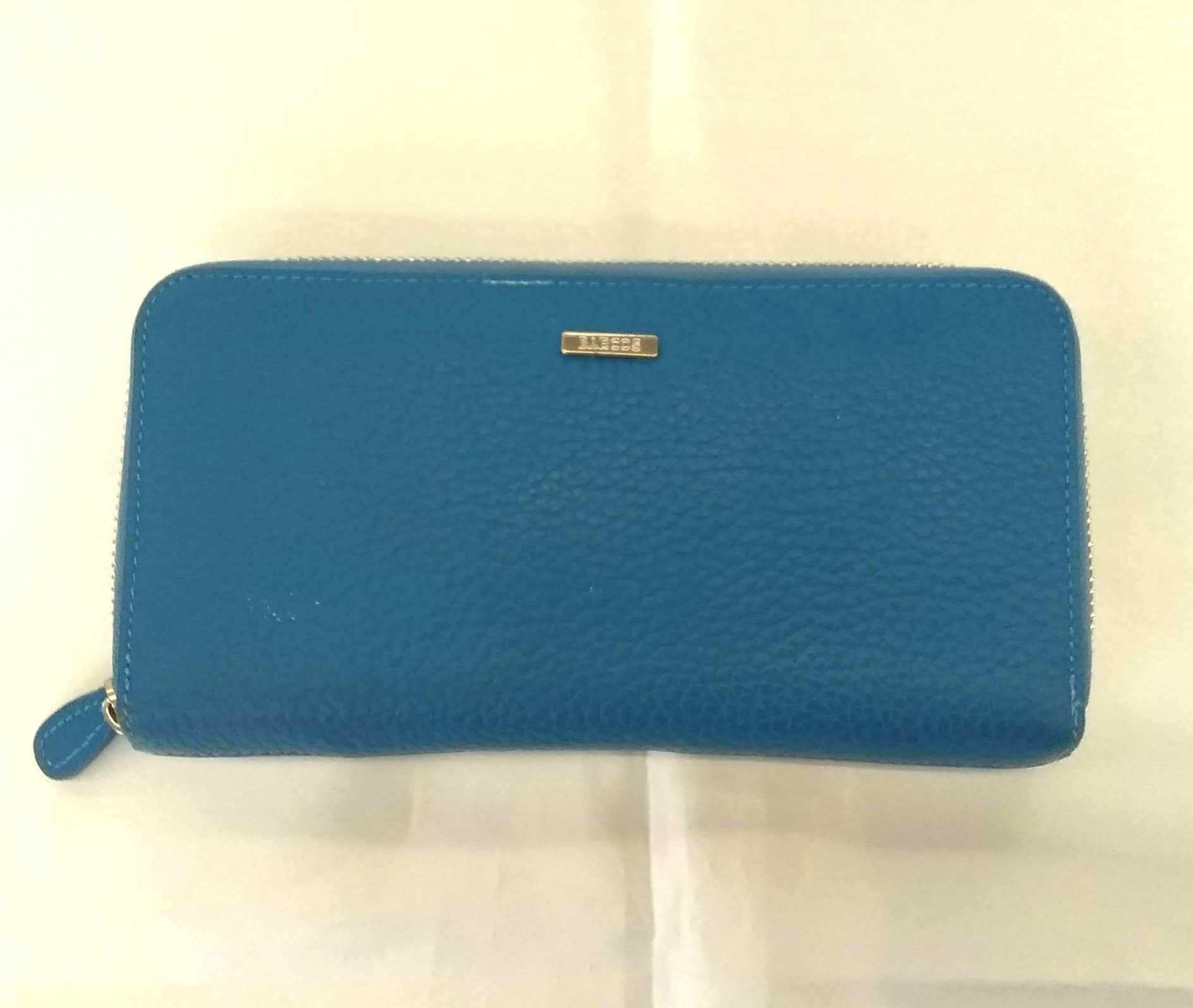 ラウンドジップ財布【ブルー】【長財布】|BARCOS