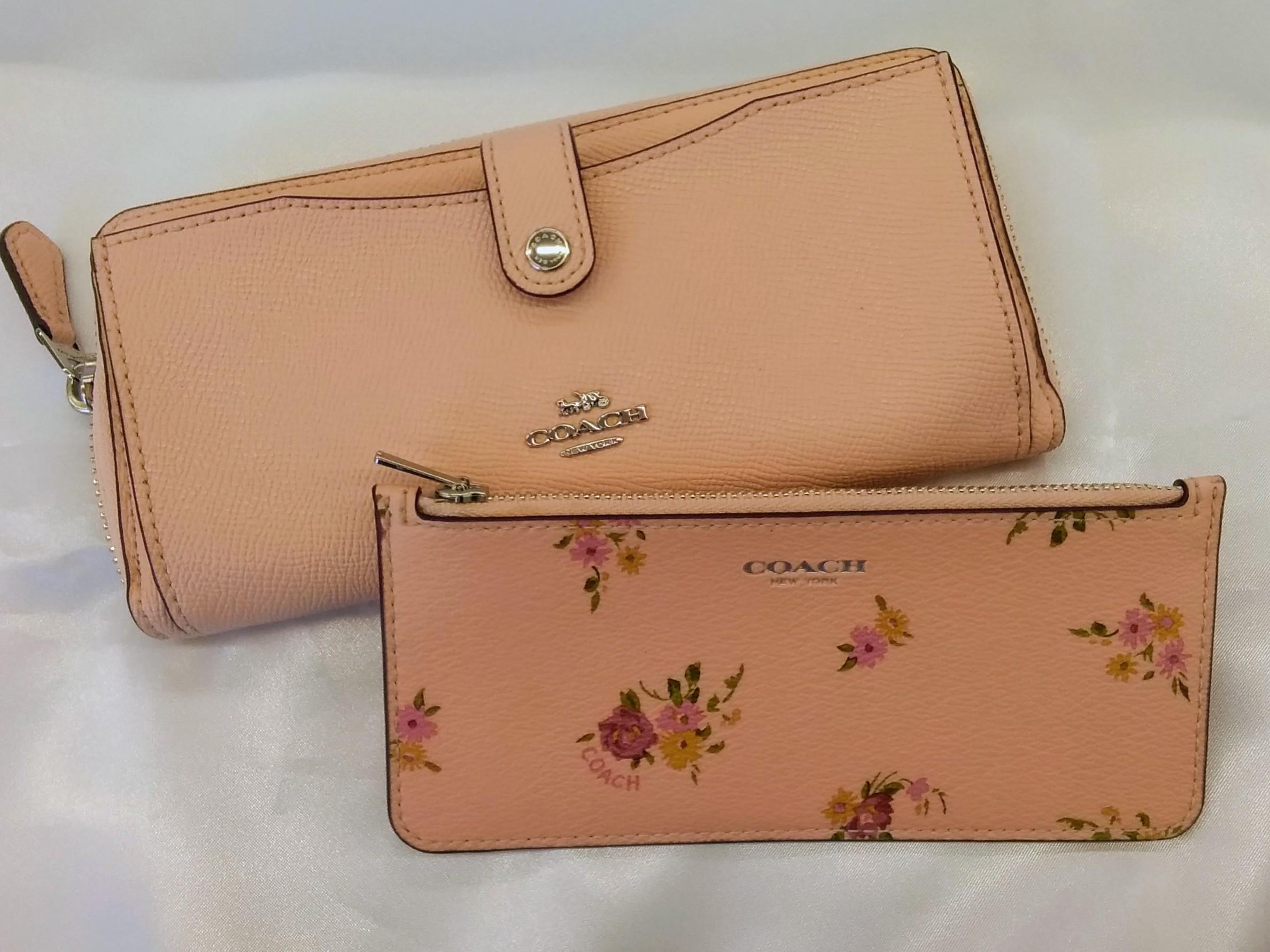 長財布【カードケース付き】【ピンク】|COACH【コーチ】【花柄】【レディース】【箱なし】