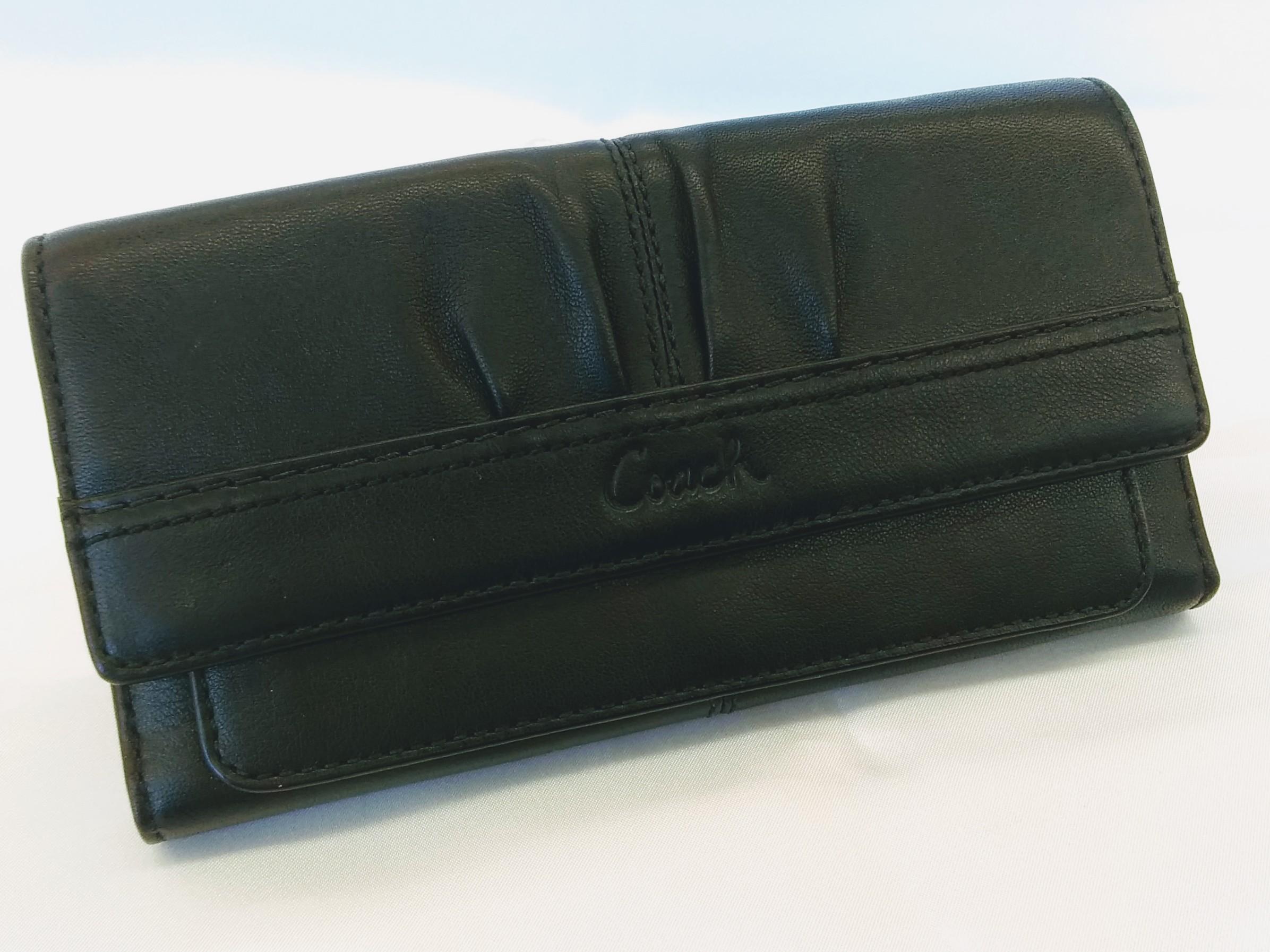 長財布【ブラック】|COACH【コーチ】【三つ折り財布】【レディース】