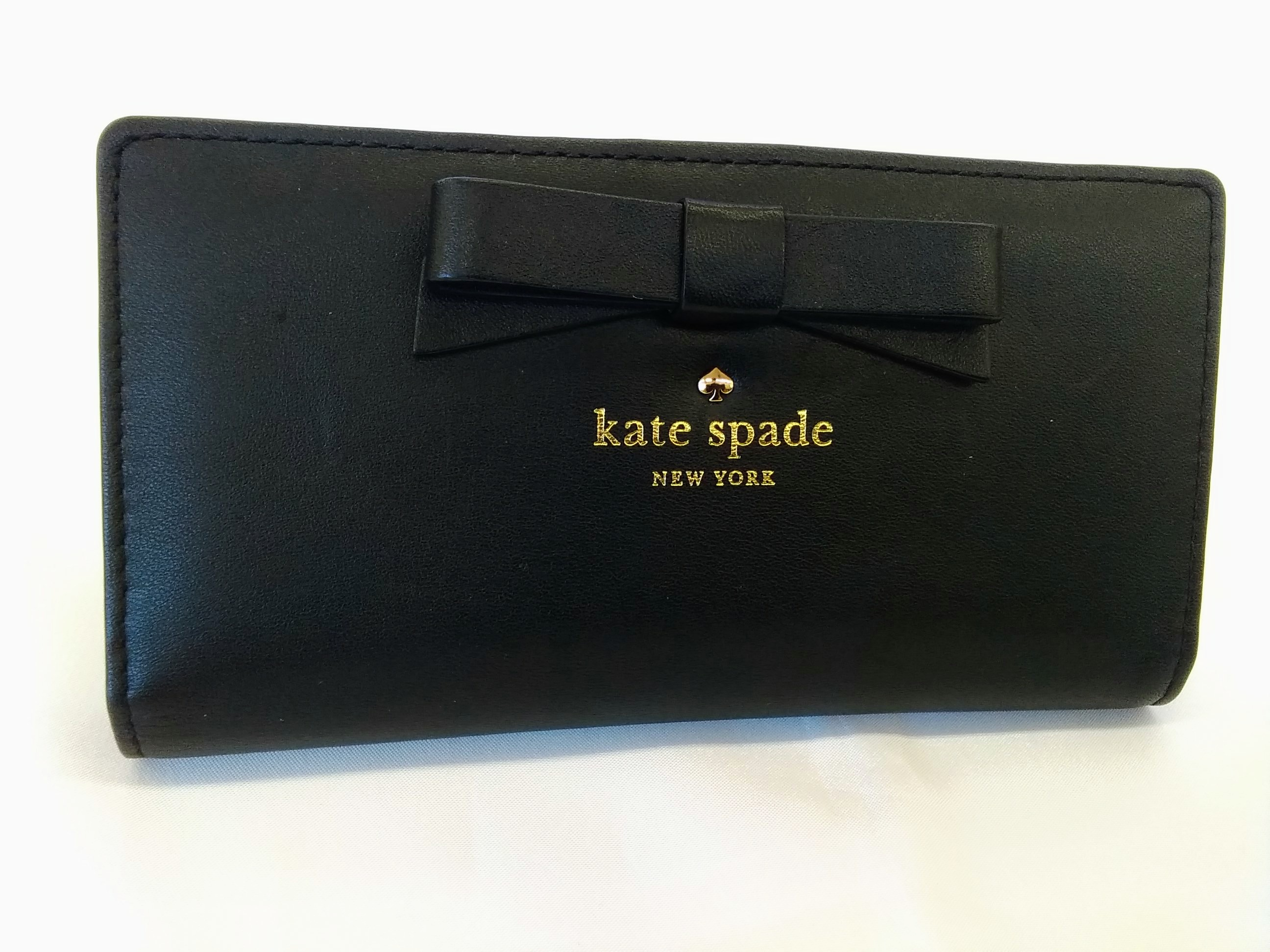 長財布【ブラック】|KATE SPADE【ケイトスペード】【箱なし】