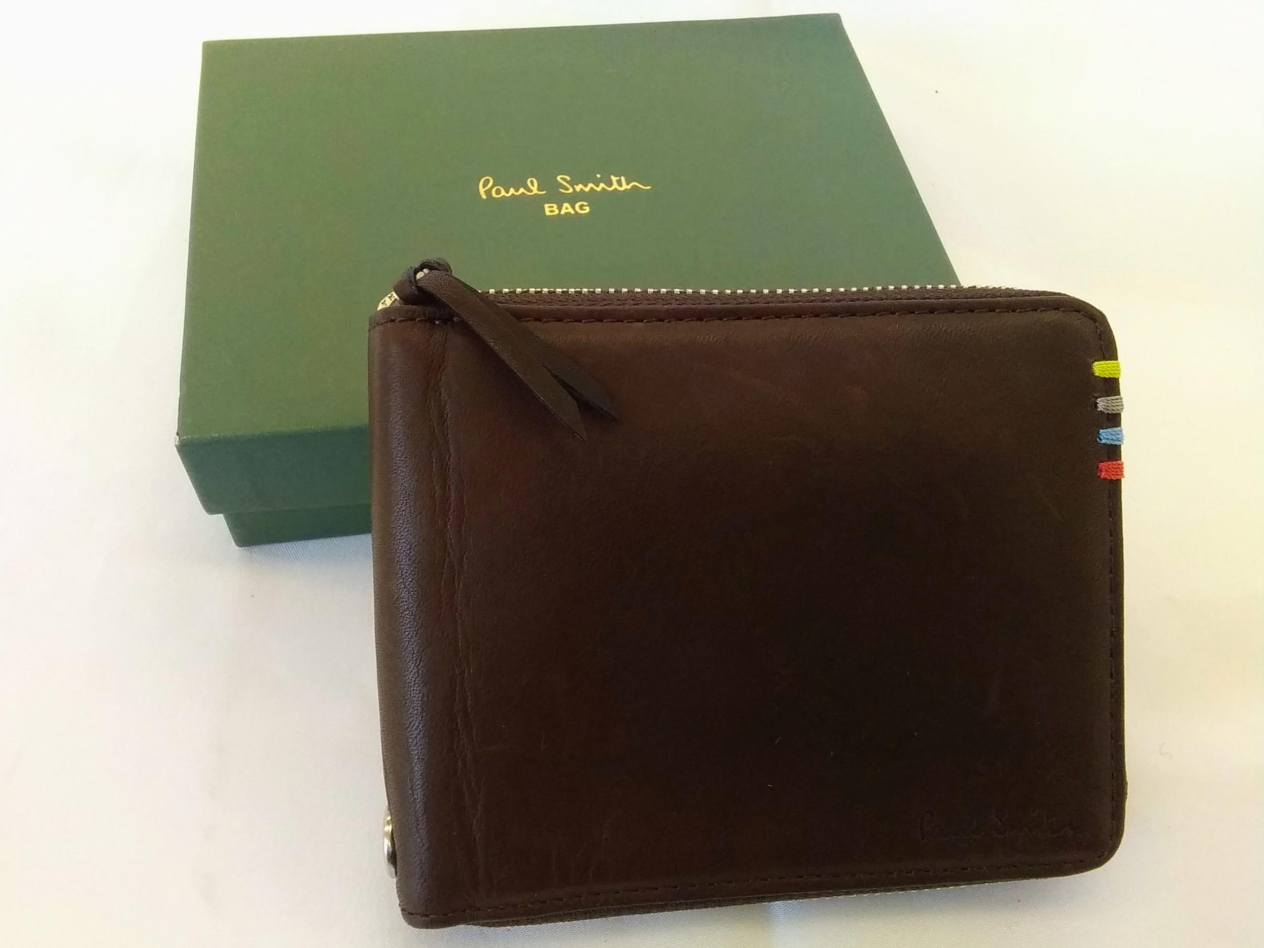 ラウンドジップ財布【ブラウン】|PAUL SMITH【ポールスミス】【メンズ】【箱つき】