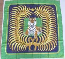 タイガーモチーフのカレ90|HERMES