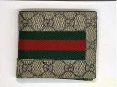 GUCCI GGスプリームキャンバス 二つ折り財布|GUCCI