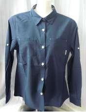 タグ付未使用ウォーターバルボーベンウィメンズリラックスフィット ロングスリーブシャツ COLUMBIA