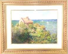 【複製版画】 ヴァランジュヴィルの崖の漁師小屋 モネ|FORT GANG / ALTENEUE
