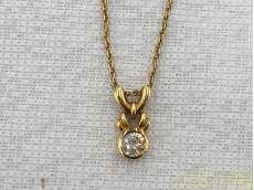 ネックレス 金 K18 ダイヤ 貴金属