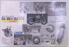 HIGH-TECH MODEL BSA DBD34 GOLD STAR|GUNZE SANGYO