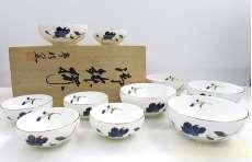 夢眩窯 親子鉢 藍の粧 鉢10点セット|夢眩窯
