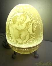 インテリアライト 照明 陶器 天使の絵|-