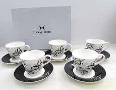 HANAE MORI コーヒーカップ ソーサー 5客セット|HANAE MORI