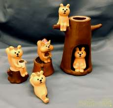 ミニチュア陶器人形 フィギュア 飾り インテリア 置物|インテリア