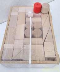 引き車 白木2段|つみ木堂