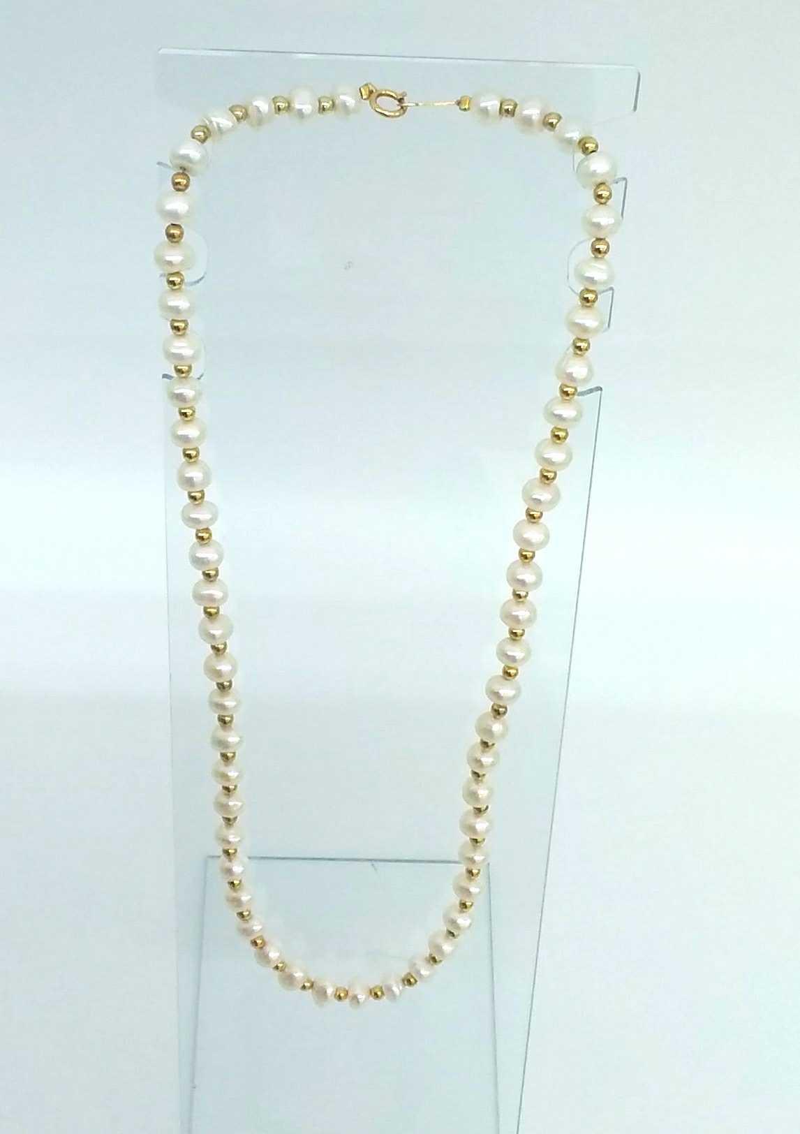 K18パールネックレス|宝石付きネックレス