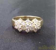 K18リング 宝石付きリング