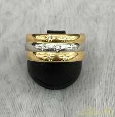 ダイヤ付コンビリング|宝石付きリング
