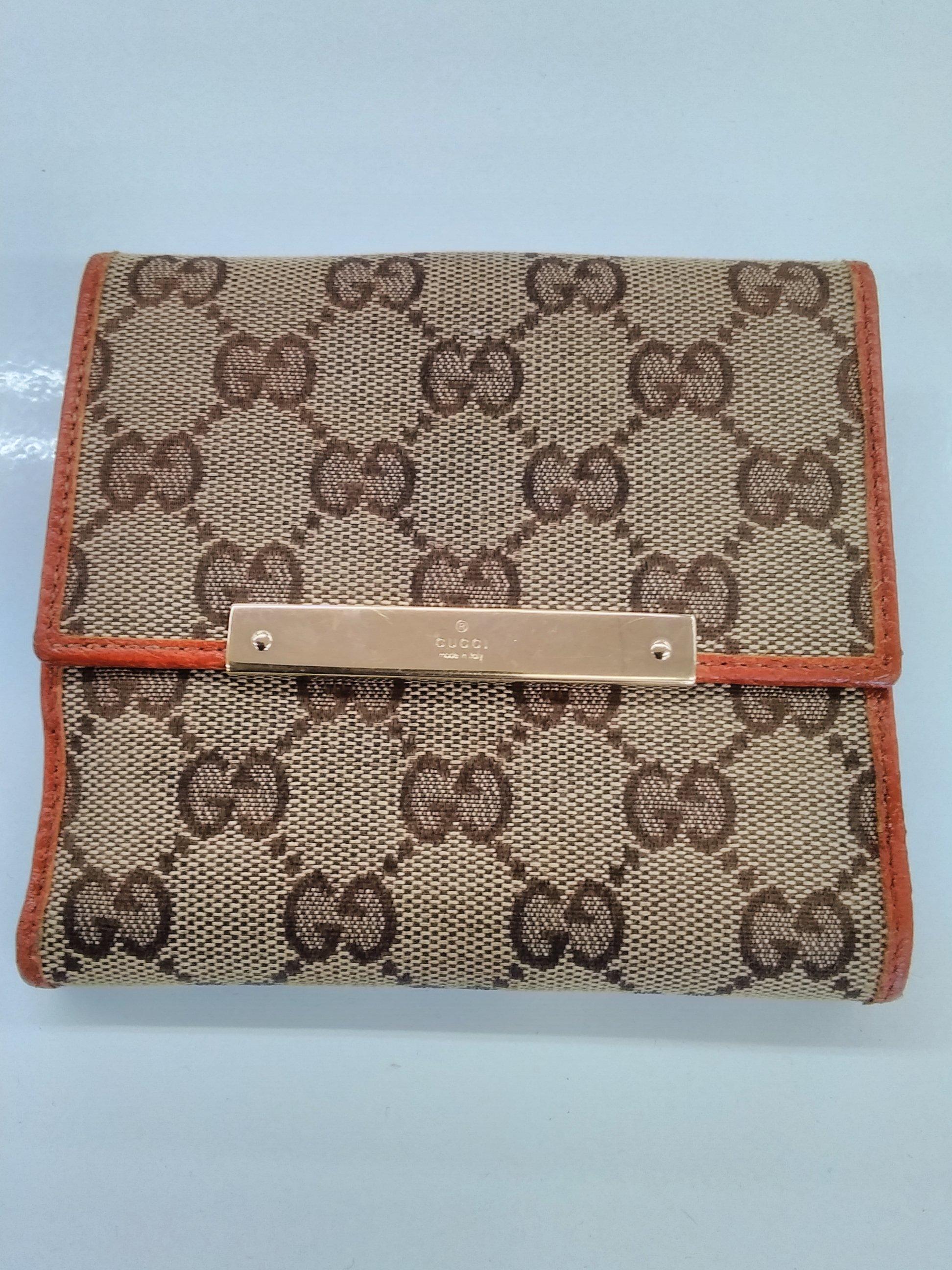 GGキャンバス 二つ折り財布|GUCCI
