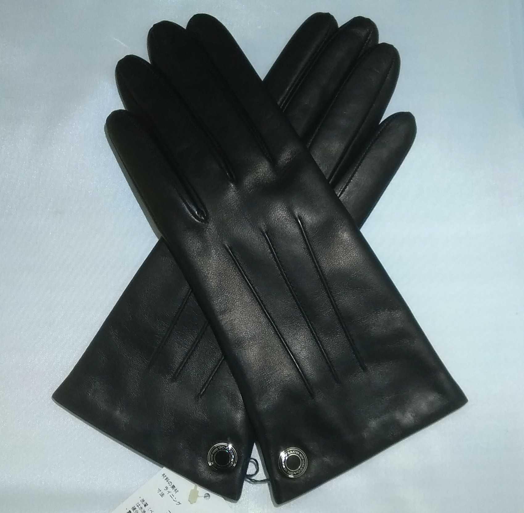 レザー手袋 COACH