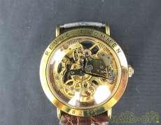 両面スケルトン手巻きアンティーク腕時計 REVUE THOMMEN