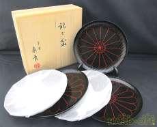 菊 黒銘々皿|象彦
