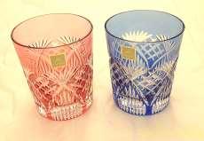江戸切子ペアグラス カガミクリスタル