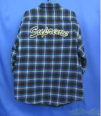 Quilted Arc Logo Flannel Shirt|SUPREME