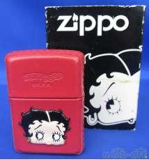 BETTY BOOP ZIPPO (皮巻)赤|ZIPPO