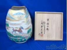 三代 斎藤雲楽作 京清水焼花瓶|京都 雲楽窯