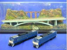 1/150 碓氷峠 めがね橋付近ジオラマ・EF63形電気機関車(青色)セット
