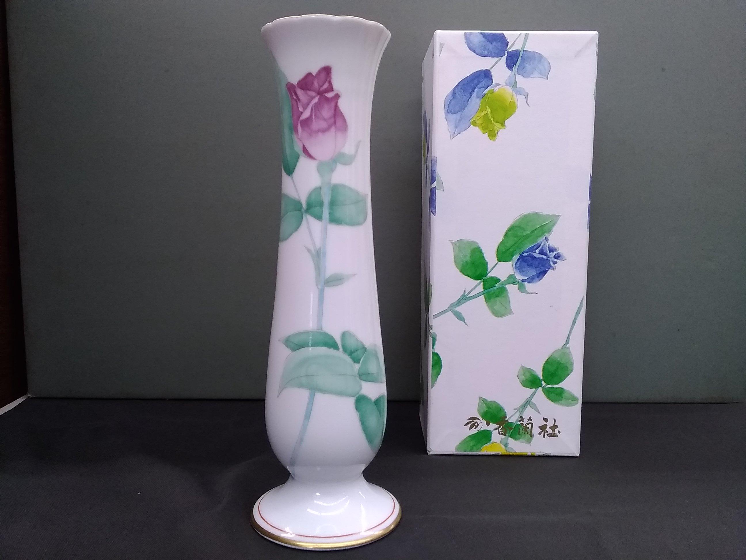 ローズガーデン 花瓶|香蘭社
