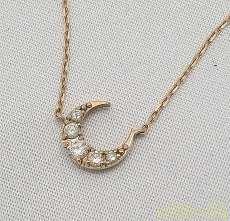 K18ピンクゴールド ネックレス|宝石付きネックレス