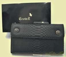 パイソンレザー 長財布|CROWZ