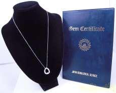 Pt900 ダイヤネックレス 宝石付きネックレス