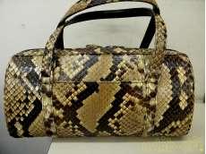 蛇皮 パイソン ハンドバッグ