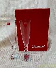 未使用 バカラグラス シャンパンペアグラス 2個|BACCARAT