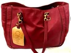 クロエ レッドレザーハンドバッグ|CHLOE