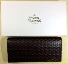 vivienne westwood レザー二つ折り長財布 オーブ柄 チョコ|VIVIENNE WESTWOOD