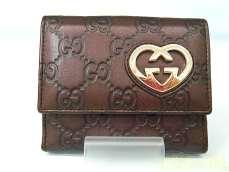 Wホック二つ折り財布|GUCCI