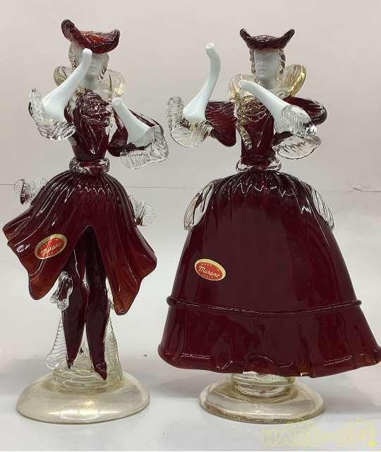 ベネチアンガラスペア人形です
